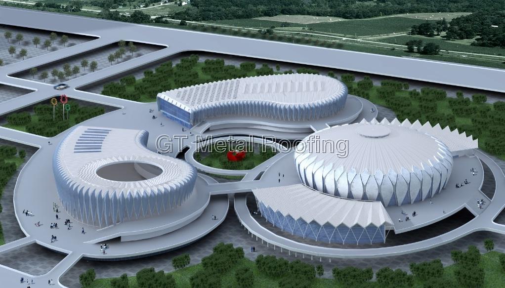Ji Nan Olympic Center Lotus Stadium Metal Roofing Gt